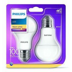 Lot de 2 ampoules LED 13W E27 Philips 929001234561