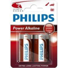 Philips PowerLife Batterie LR14P2B C alcaline