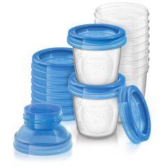 10 pots de conservation pour lait maternel Philips Avent SCF618/10