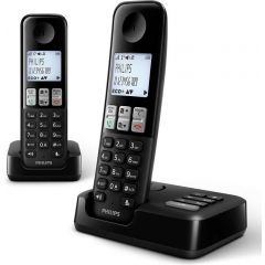 Téléphone sans fil avec répondeur Philips D2552B/01