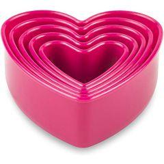 Set de 5 emporte-pièces cœur aluminium rose + tapis Tefal J4169714