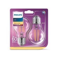 Lot de 2 ampoules LED classique 60W E27 Philips 929001387371