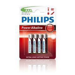 Philips PowerLife Pile alcaline LR03P4B AAA