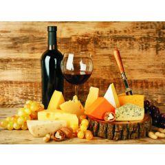 Planche à découper en verre trempé 40 x 30 cm décor vin et fromage Pradel P0001159/IPL4030VIN