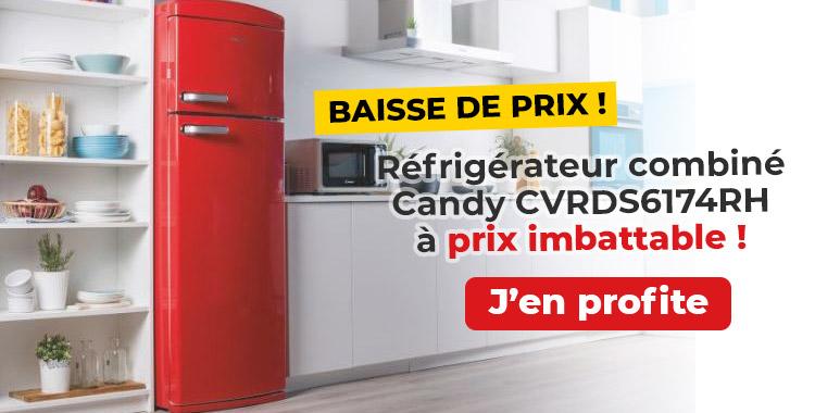 Réfrigérateur combiné Candy CVRDS6174RH
